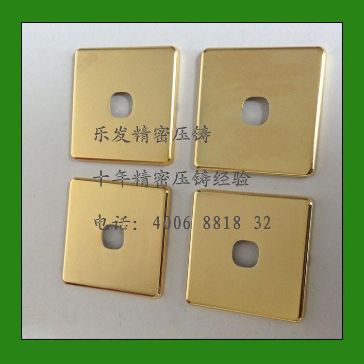 压铸开关面板 墙壁开单开双开可控开关锌合金压铸件