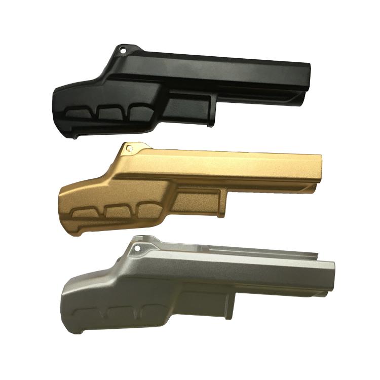 高精密铝合金压铸氧化喷砂环保铝合金枪体配件高品质